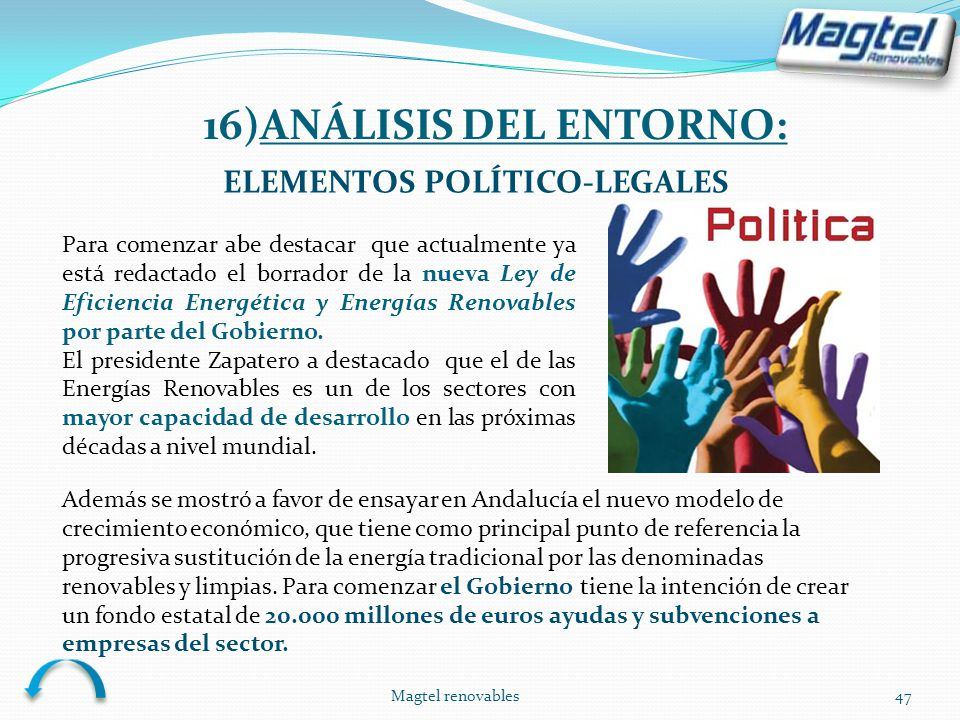 16)ANÁLISIS DEL ENTORNO: ELEMENTOS POLÍTICO-LEGALES