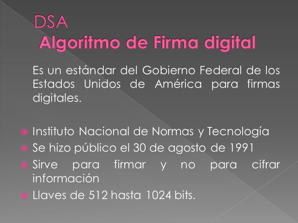DSA Algoritmo de Firma digital