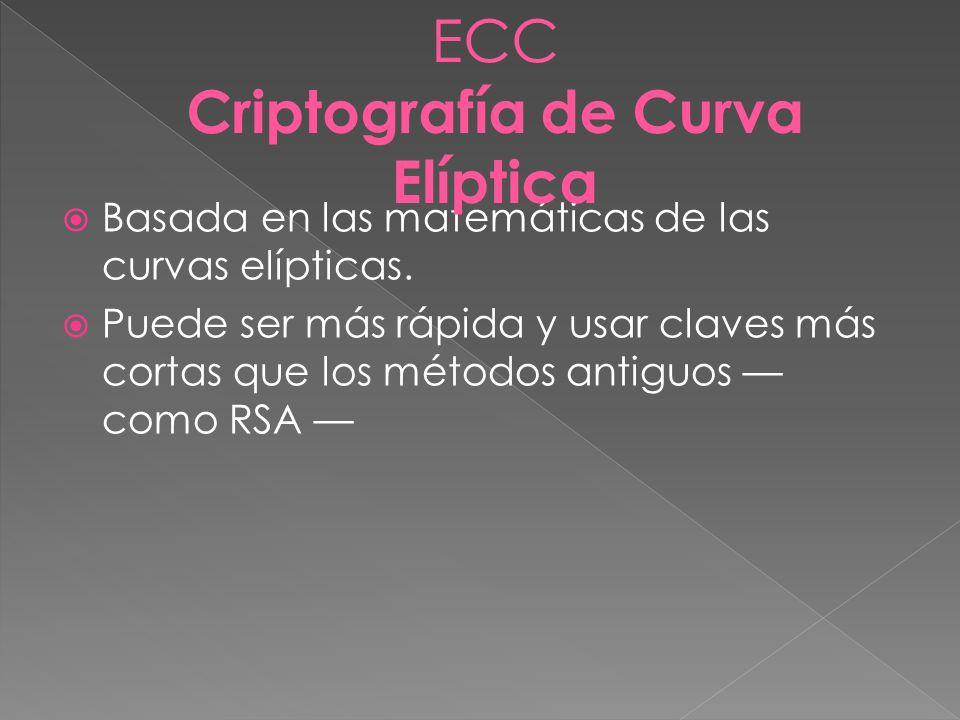 Criptografía de Curva Elíptica
