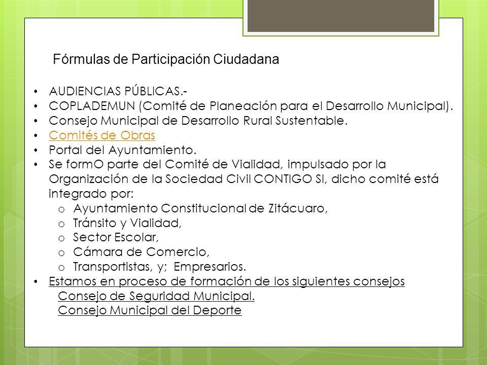 Fórmulas de Participación Ciudadana