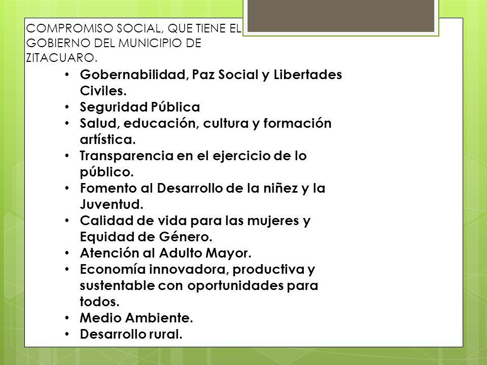 Gobernabilidad, Paz Social y Libertades Civiles. Seguridad Pública