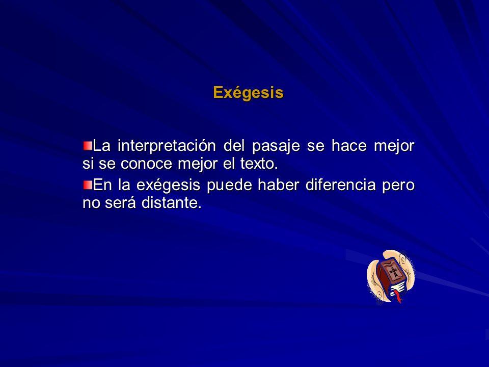 ExégesisLa interpretación del pasaje se hace mejor si se conoce mejor el texto.