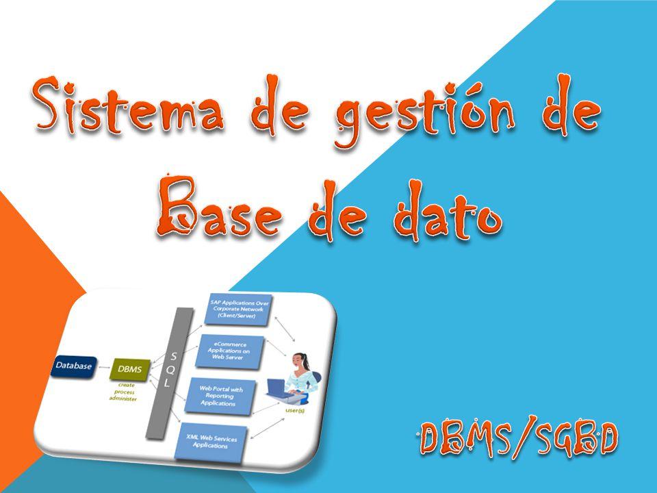 Sistema de gestión de Base de dato