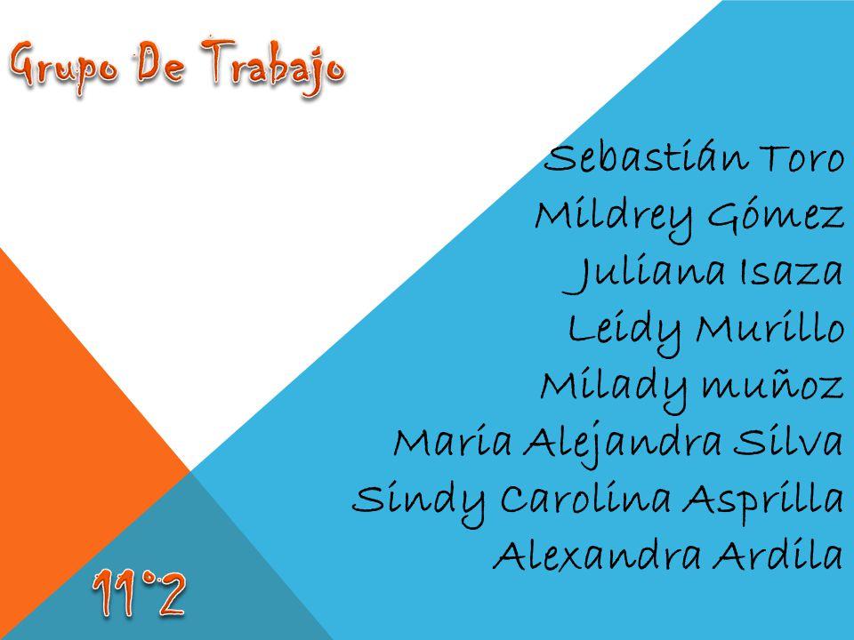 Grupo De Trabajo 11°2 Sebastián Toro Mildrey Gómez Juliana Isaza