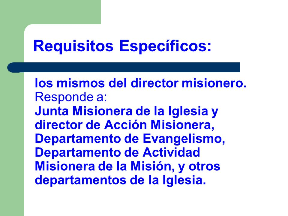 Requisitos Específicos: