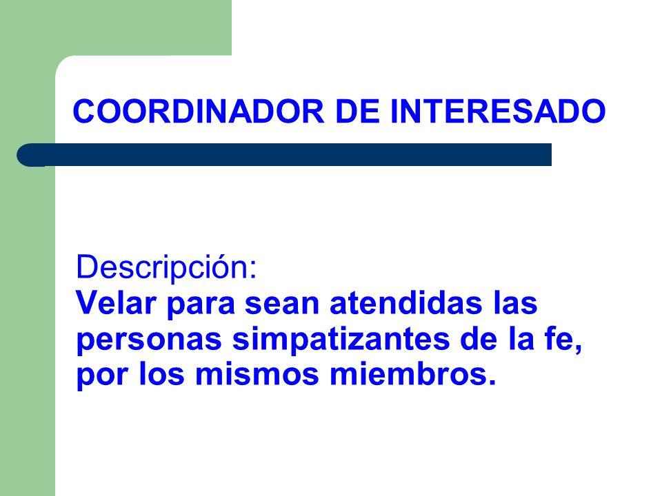 COORDINADOR DE INTERESADO