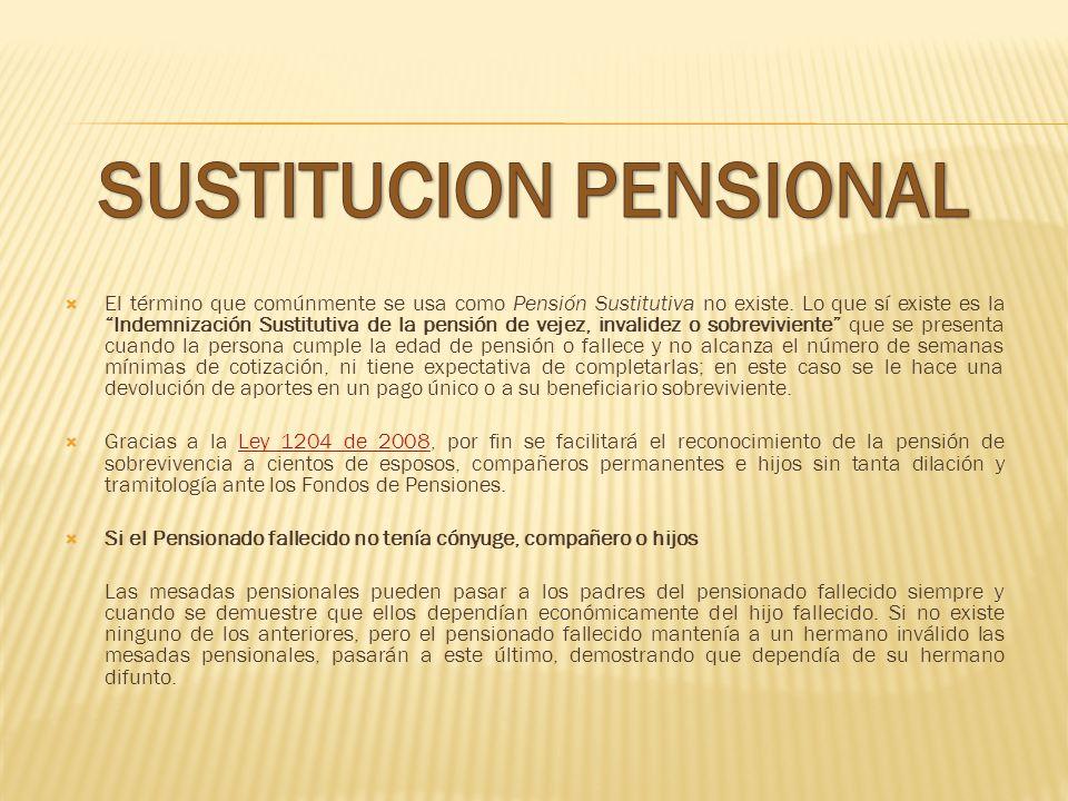 SUSTITUCION PENSIONAL