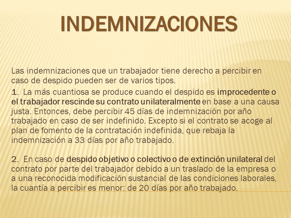 INDEMNIZACIONES
