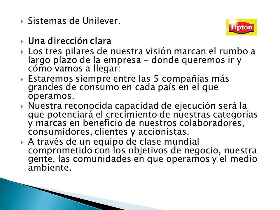 Sistemas de Unilever. Una dirección clara.