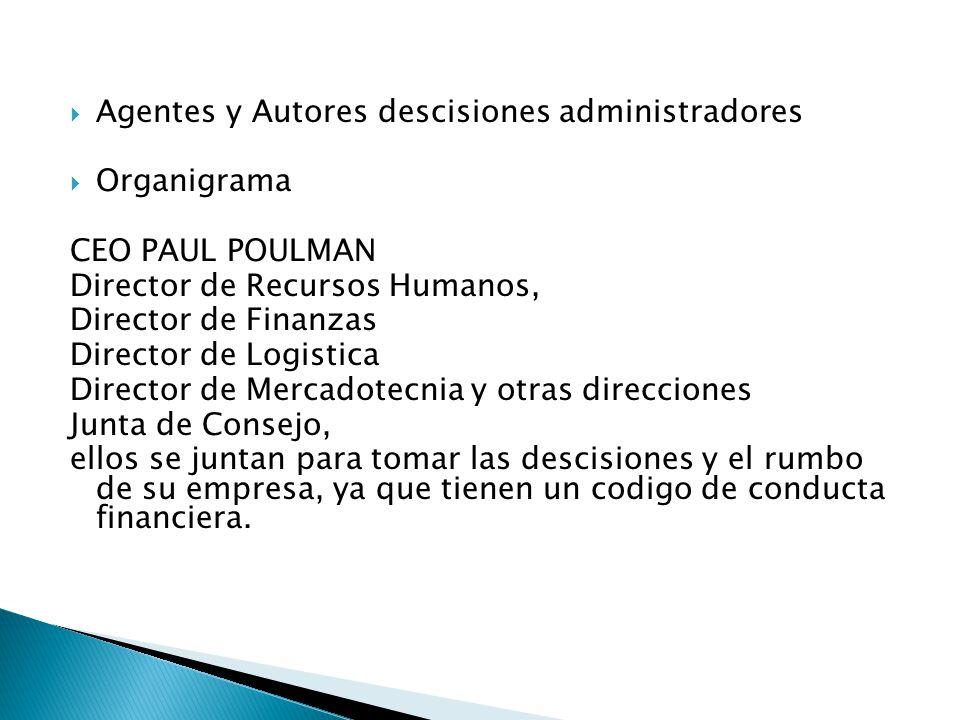 Agentes y Autores descisiones administradores