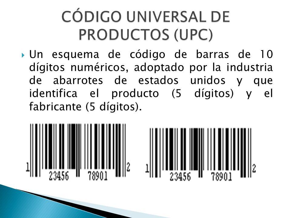 CÓDIGO UNIVERSAL DE PRODUCTOS (UPC)