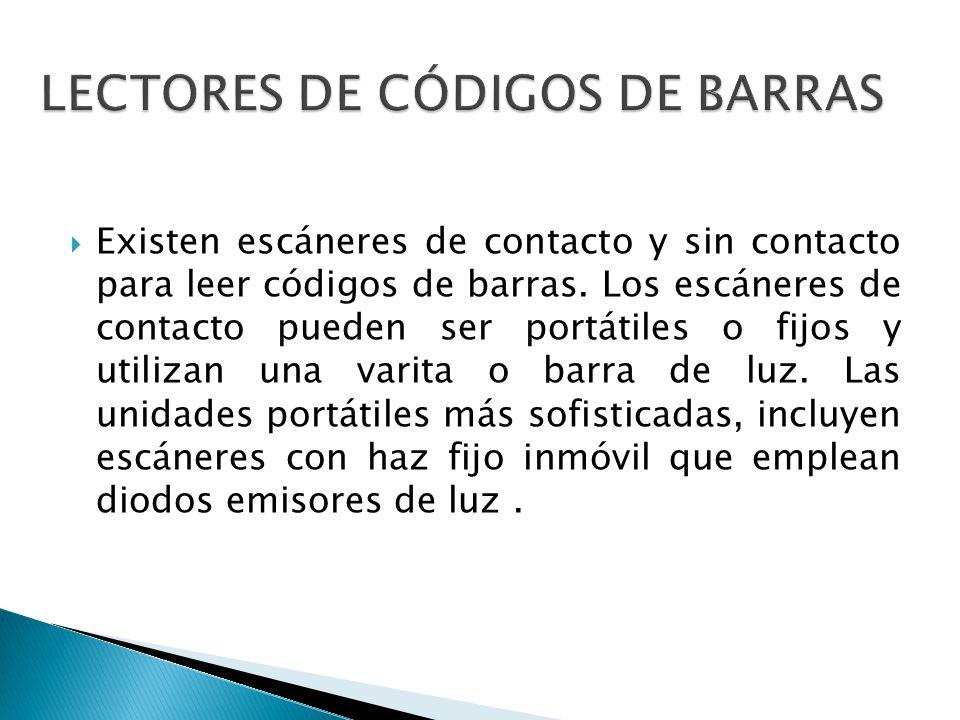 LECTORES DE CÓDIGOS DE BARRAS