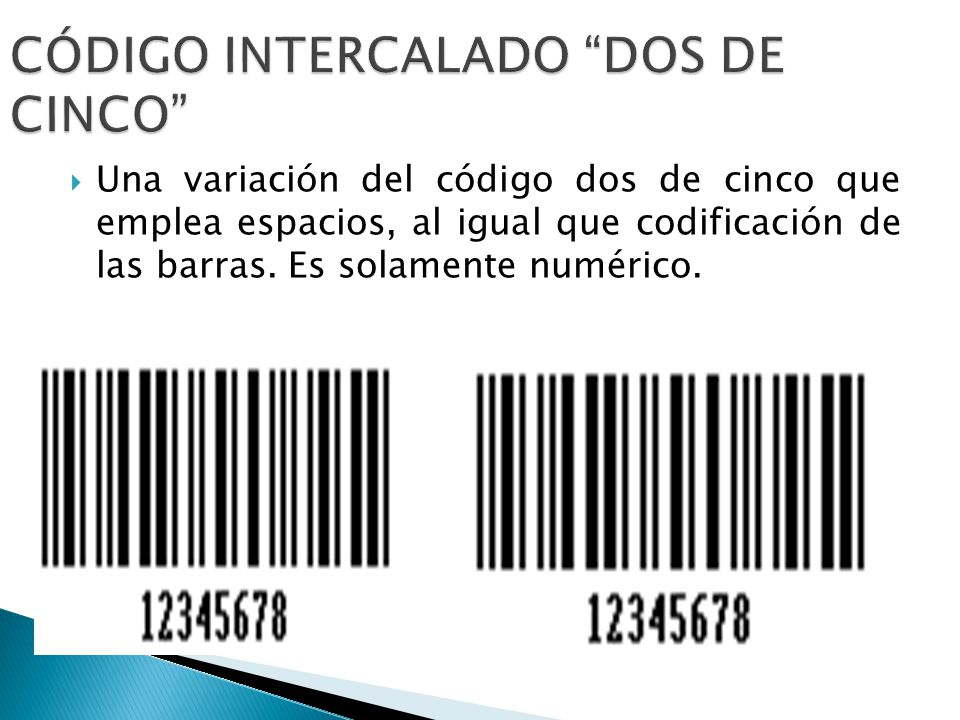 CÓDIGO INTERCALADO DOS DE CINCO