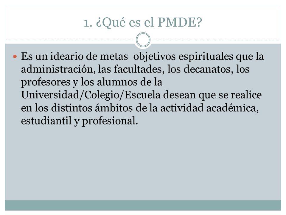 1. ¿Qué es el PMDE