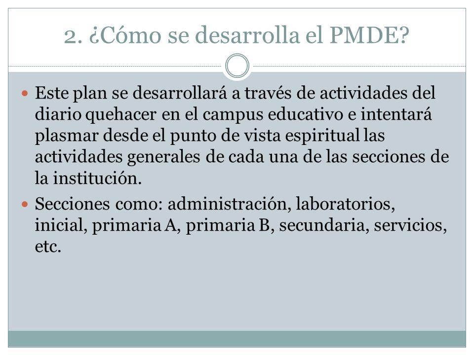 2. ¿Cómo se desarrolla el PMDE