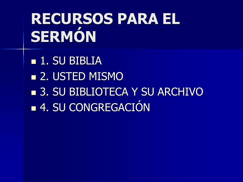 RECURSOS PARA EL SERMÓN