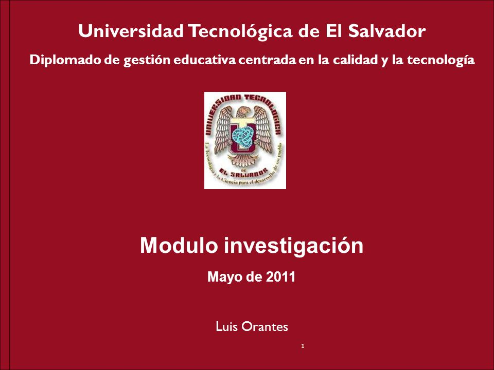 Diplomado de gestión educativa centrada en la calidad y la tecnología