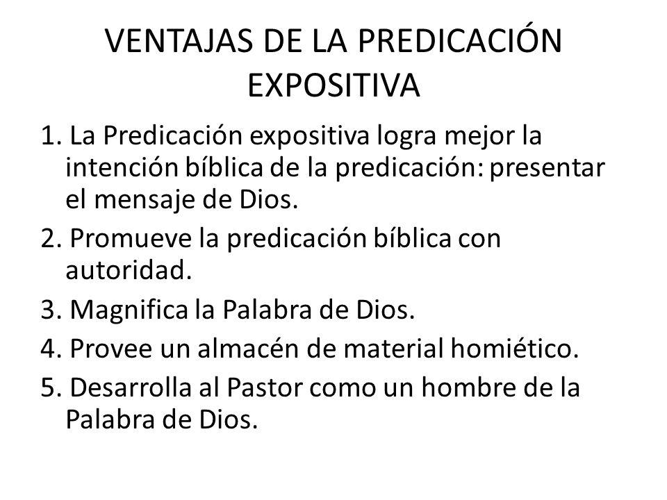 VENTAJAS DE LA PREDICACIÓN EXPOSITIVA