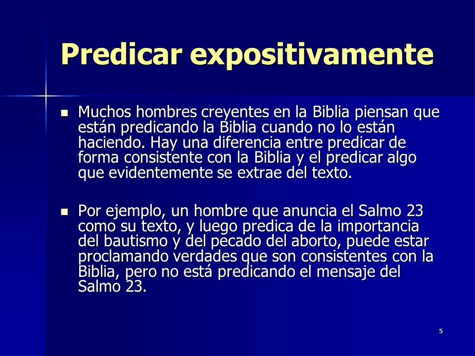 Predicar expositivamente