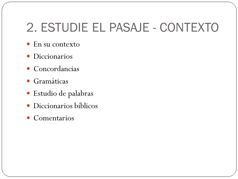 2. ESTUDIE EL PASAJE - CONTEXTO