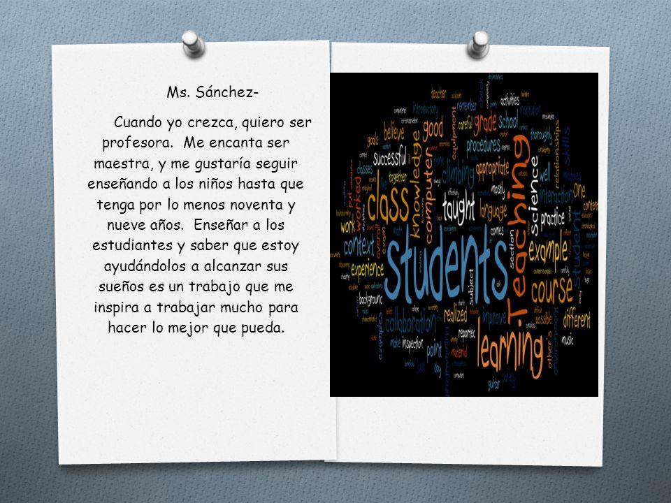 Ms. Sánchez-