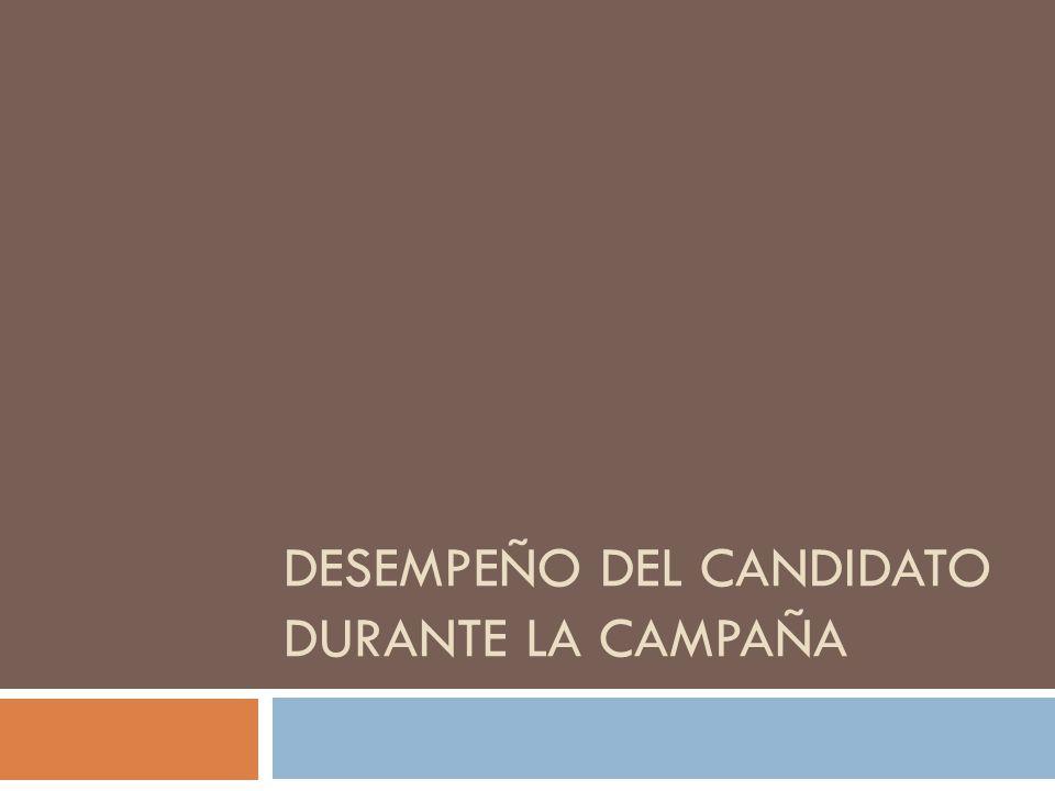 DESEMPEÑO DEL CANDIDATO DURANTE LA CAMPAÑA