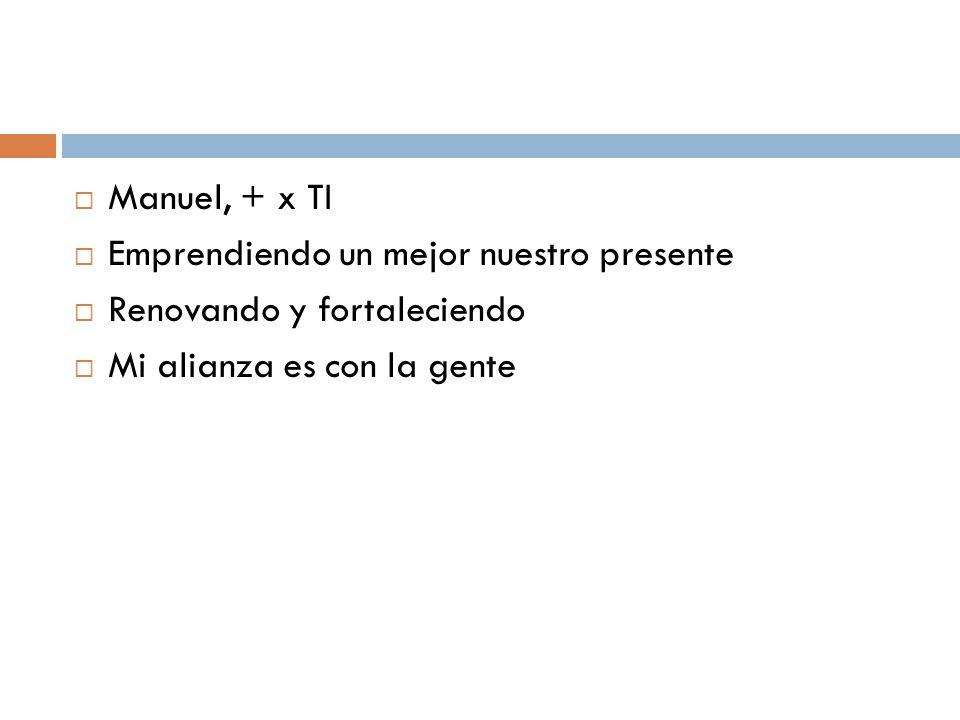 Manuel, + x TI Emprendiendo un mejor nuestro presente.