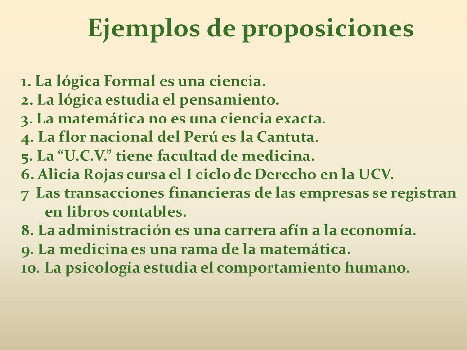 Ejemplos de proposiciones