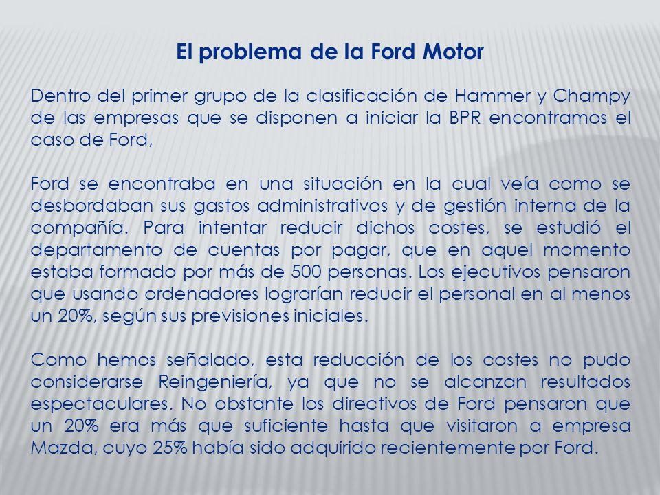 El problema de la Ford Motor