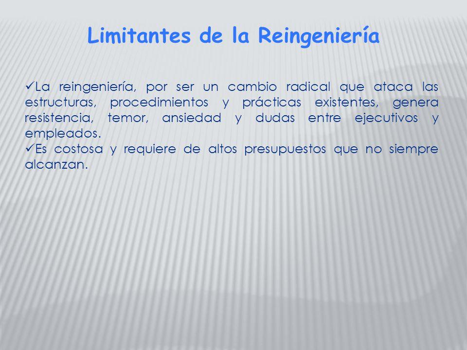 Limitantes de la Reingeniería