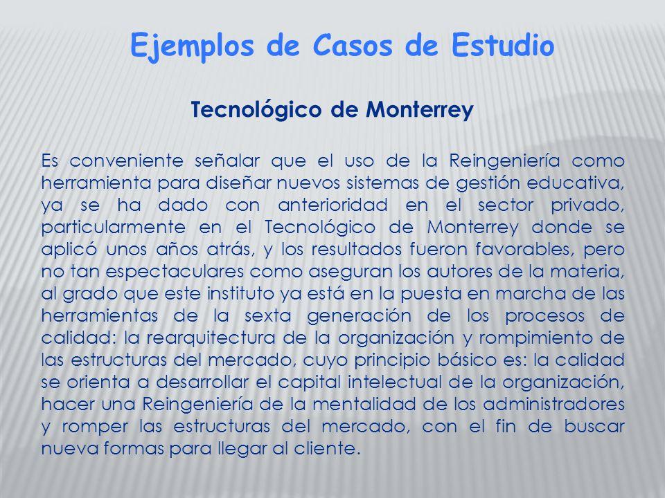 Ejemplos de Casos de Estudio Tecnológico de Monterrey