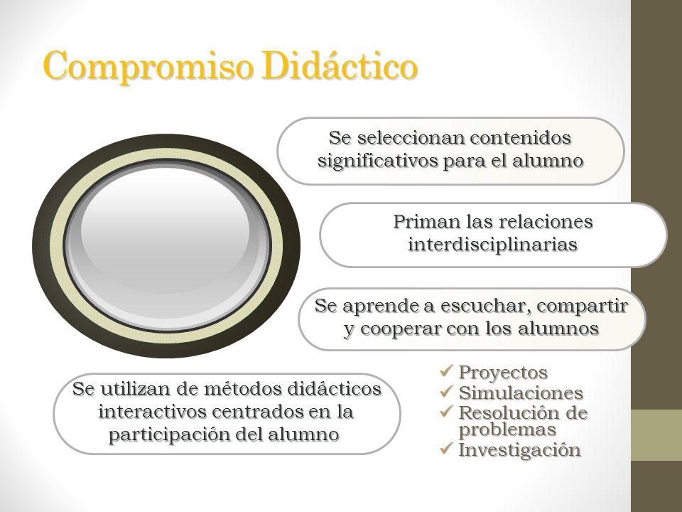 Compromiso Didáctico Los compromisos mejoran los resultados cuando…