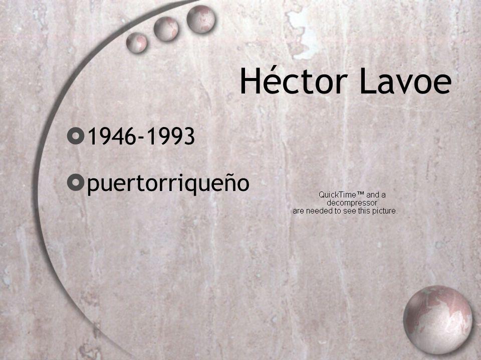 Héctor Lavoe 1946-1993 puertorriqueño