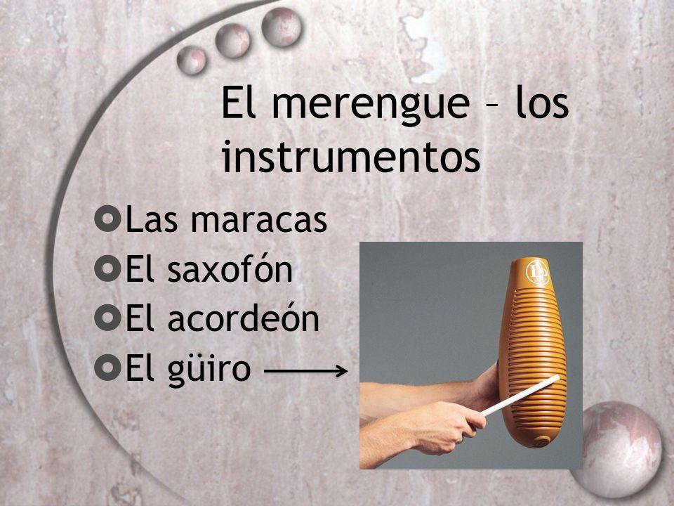 El merengue – los instrumentos