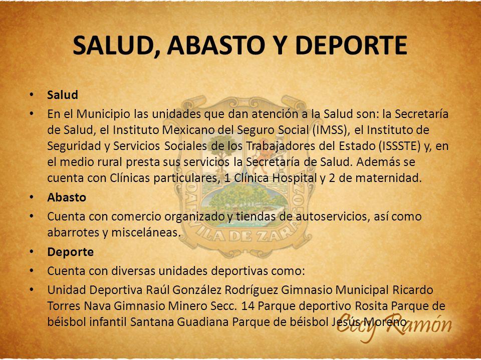 SALUD, ABASTO Y DEPORTE Salud