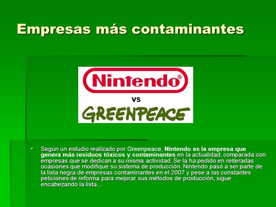 Empresas más contaminantes