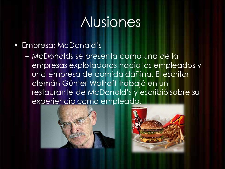 Alusiones Empresa: McDonald's