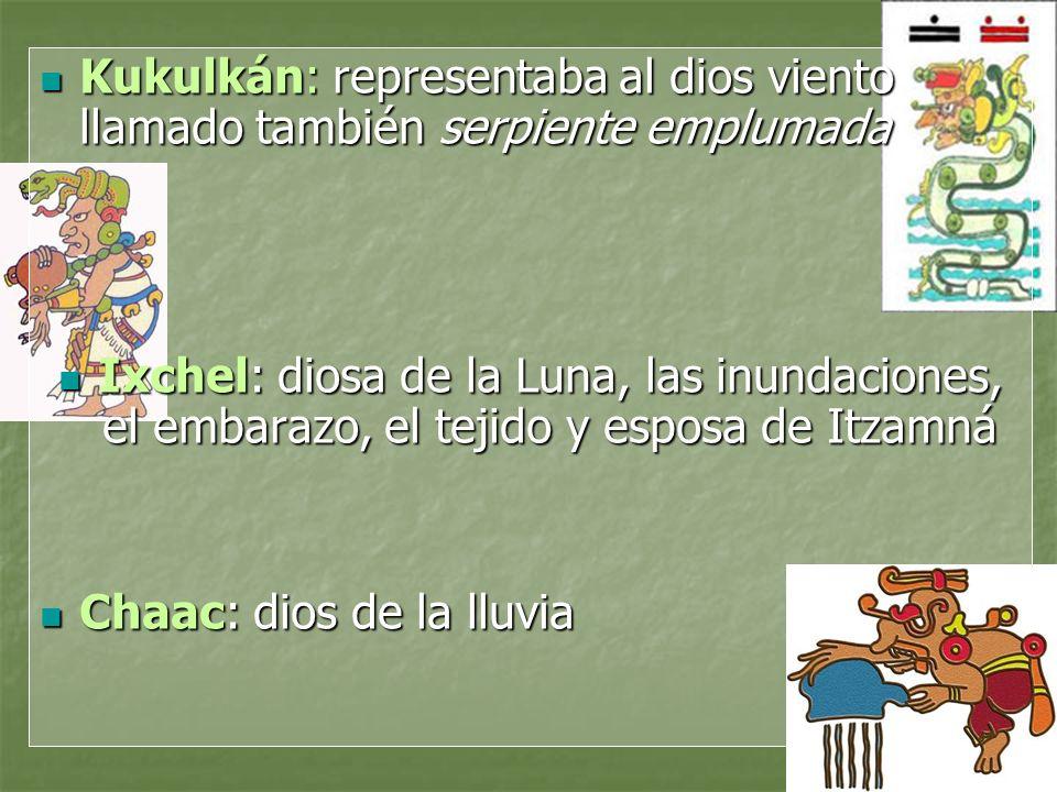 Kukulkán: representaba al dios viento llamado también serpiente emplumada
