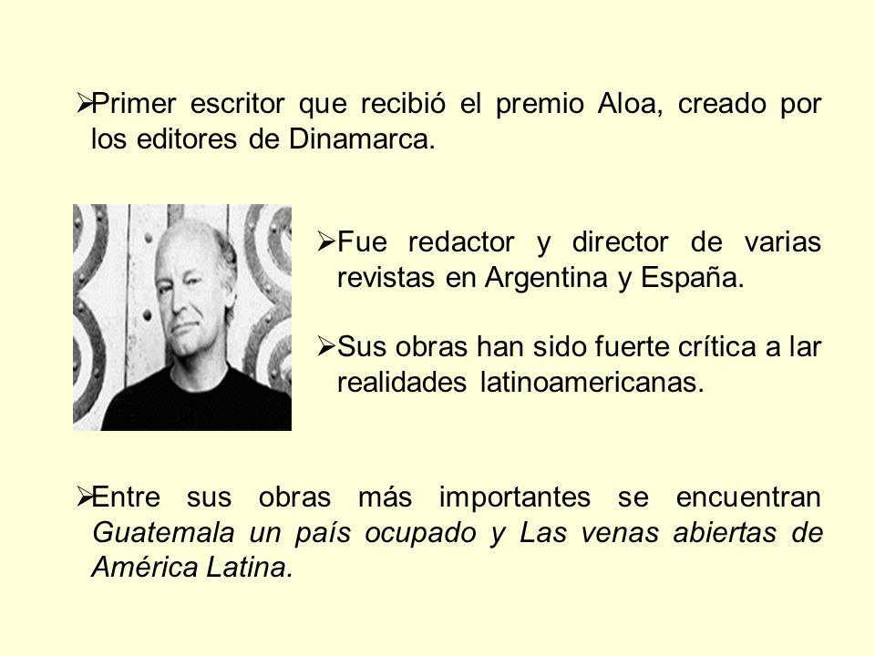 Primer escritor que recibió el premio Aloa, creado por los editores de Dinamarca.