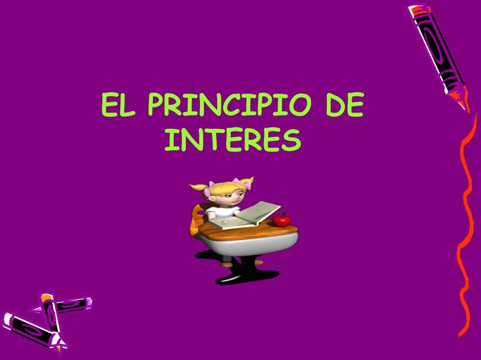 EL PRINCIPIO DE INTERES