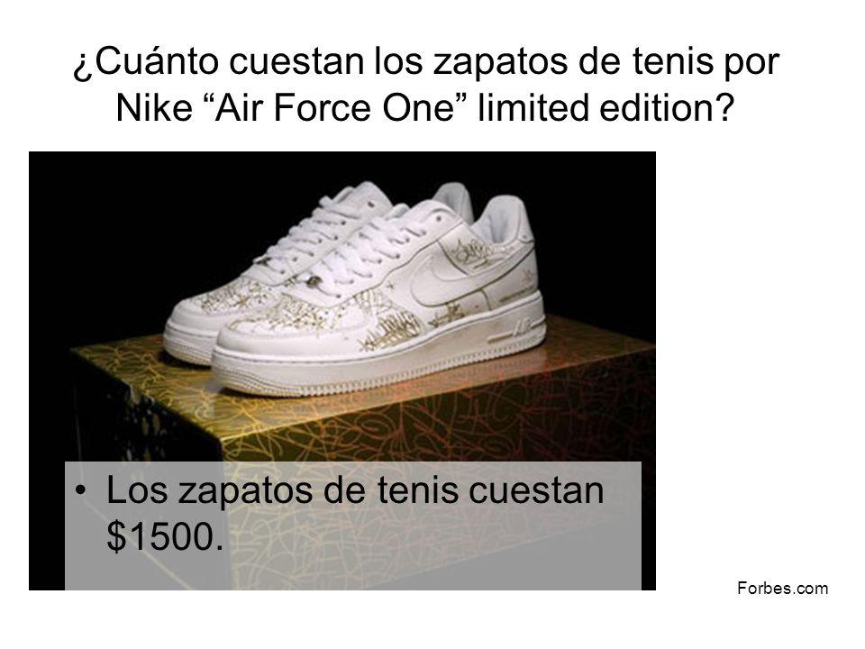 Los zapatos de tenis cuestan $1500.