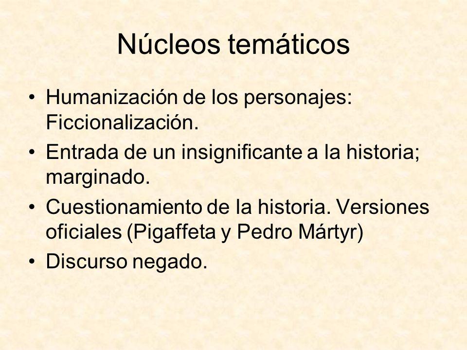 Núcleos temáticos Humanización de los personajes: Ficcionalización.
