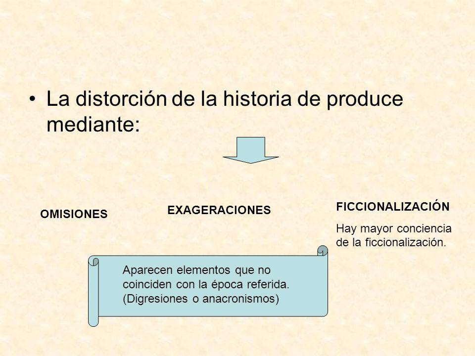 La distorción de la historia de produce mediante: