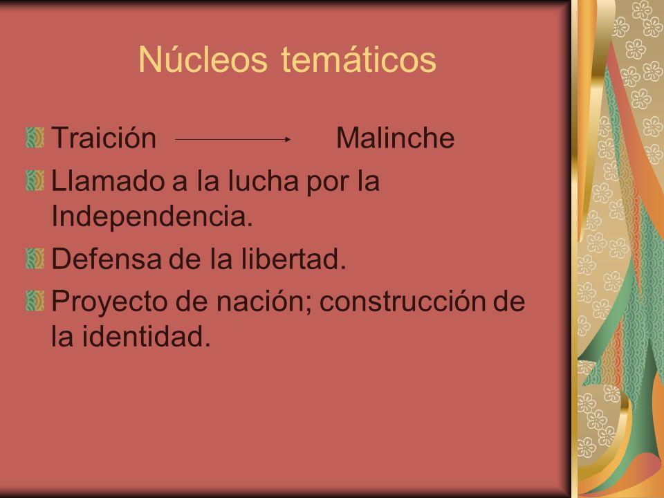 Núcleos temáticos Traición Malinche