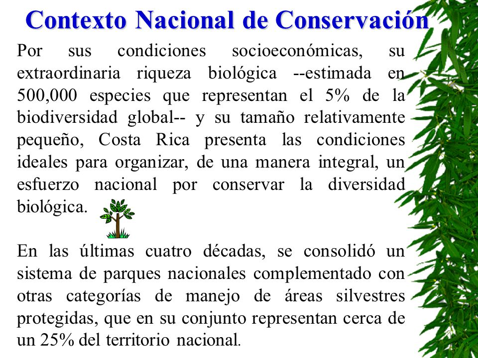 Contexto Nacional de Conservación