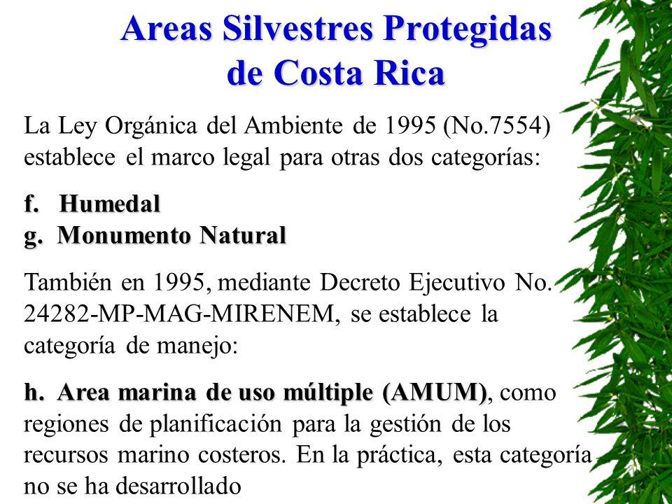 Areas Silvestres Protegidas