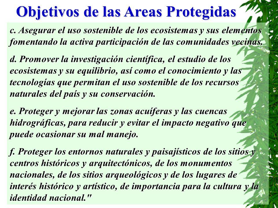 Objetivos de las Areas Protegidas