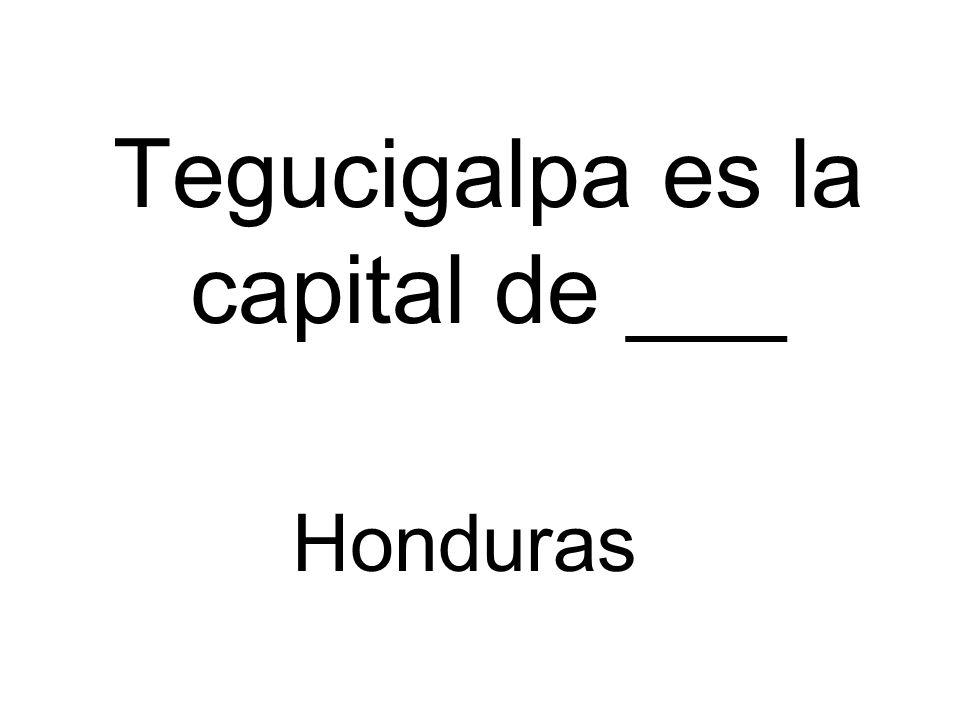 Tegucigalpa es la capital de ___