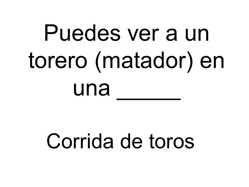 Puedes ver a un torero (matador) en una _____