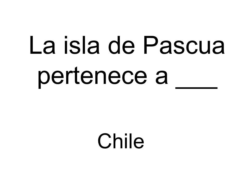 La isla de Pascua pertenece a ___